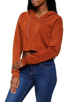 Raw Hem Cropped Sweatshirt - 3416072298892
