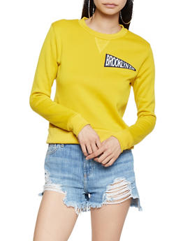 Brooklyn Graphic Patch Sweatshirt - 3416074718302