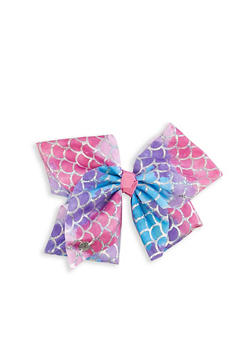 JoJo Siwa Tie Dye Mermaid Scale Print Bow Clip - 3590049040600
