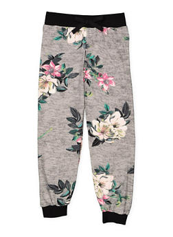 Girls 4-6x Floral Soft Knit Joggers - 3601060580020