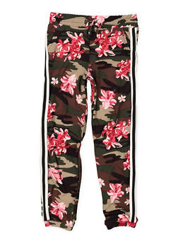 Girls 4-6x Side Tape Printed Joggers - 3601060580025