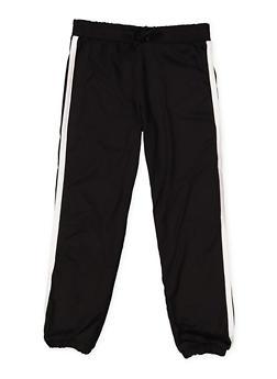 Girls 4-6x Varsity Stripe Soft Knit Joggers - 3601060580027