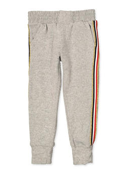 Girls 4-6x Striped Tape Knit Joggers - 3601063400006