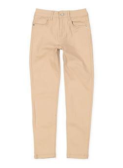 Girls 4-6x Solid Twill Skinny Pants - 3601073990001
