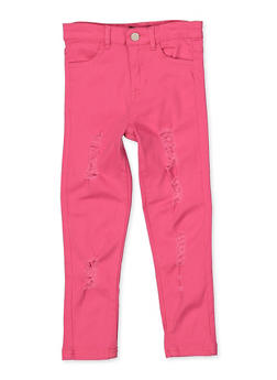 Girls 4-6x Frayed Twill Pants - 3601073990012