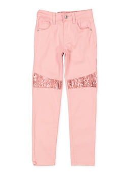 Girls 7-16 Sequin Detail Twill Pants - 3602023130005