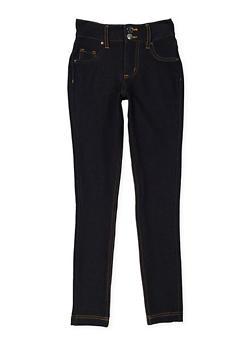 Girls 7-16 Denim Knit Pants - 3602056570015