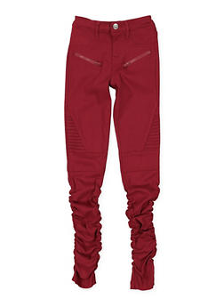 Girls 7-16 Ruched Moto Jeggings - 3602056570020