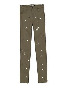 Girls 7-16 Paint Splatter Hyperstretch Jeans - 3602056570022