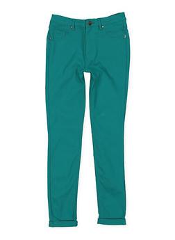 Girls 7-16 Hyperstretch Pants - GREEN - 3602056570023