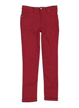 Girls 7-16 Hyperstretch Pants - WINE - 3602056570023