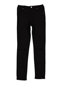 Girls 7-16 Slit Knee Hyperstretch Pants - 3602056570024
