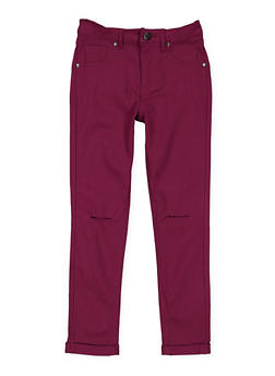 Girls 7-16 Slit Knee Hyperstretch Pants - 3602056570024