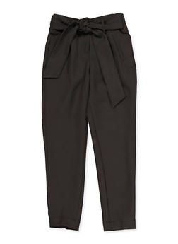 Girls 7-16 Tie Front Dress Pants - 3602056570035