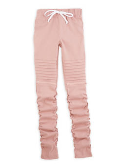 Girls 7-16 Ruched Zip Moto Jeggings - 3602056570048