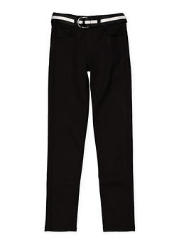 Girls 7-16 Belted Twill Pants - 3602056720015