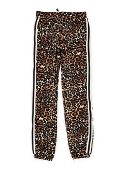 Girls 7-16 Leopard Print Joggers - 3602060580040