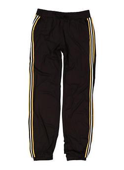 Girls 7-16 Striped Knit Trim Joggers - 3602060580042