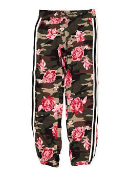 Girls 7-16 Floral Camo Joggers - 3602060580044
