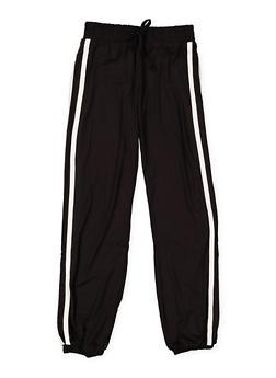 Girls 7-16 Varsity Stripe Soft Knit Joggers - 3602060580047