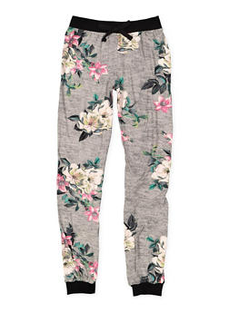 Girls 7-16 Soft Knit Floral Joggers - 3602060580051