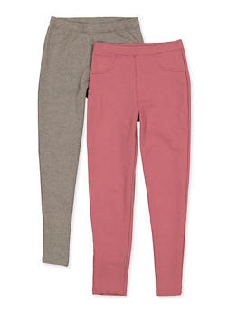 Girls 7-16 2 Pack Solid Jeggings - 3602063370005