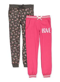 Girls 7-16 Love Donut Joggers Set - 3602063370011