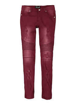 Girls 7-16 Colored Moto Jeans - 3602063400010