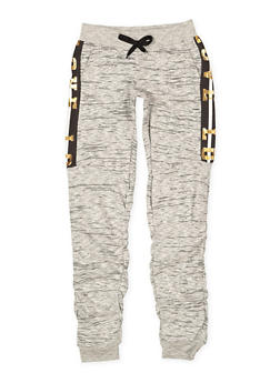 Girls 7-16 Love Graphic Ruched Sweatpants - 3602063400024