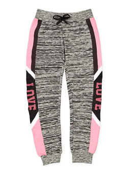 Girls 7-16 Graphic Space Dye Sweatpants - 3602063400035