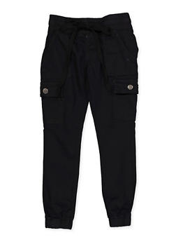 Girls 7-16 Cargo Denim Joggers - 3602065300015