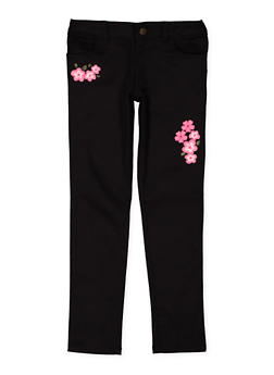 Girls 7-16 Embroidered Twill Pants - 3602068320001