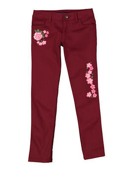 Girls 7-16 French Toast Embroidered Skinny Pants - 3602068320003