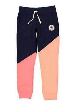 Girls 7-16 Converse Color Block Sweatpants - 3602070340003