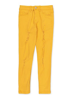 Girls 7-16 Frayed Twill Pants - 3602073990008