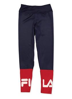 Girls 7-16 Fila Color Block Active Leggings - 3602075650002