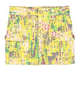 Girls Tie Dye Cargo Skirt - 3604038340024