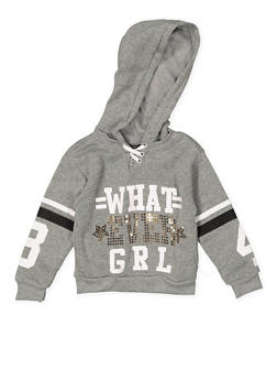 Girls 4-6x Whatever Girl Graphic Sweatshirt - 3605038340110