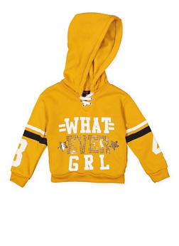 Girls 4-6x Whatever Girl Graphic Sweatshirt - 3605038340110
