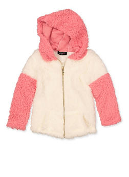 Girls 4-6x Sherpa Color Block Sweatshirt - 3605038340125