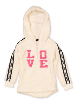 Girls 4-6x Love Tape Sherpa Sweatshirt - 3605038340129
