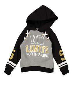 Girls 4-6x Graphic Lace Up Sweatshirt - 3605038342548