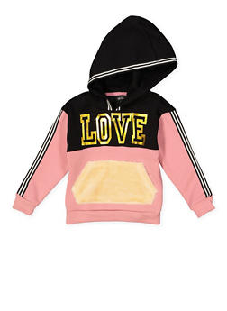 Girls 4-6x Love Graphic Sweatshirt - 3605038342552
