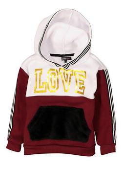 Girls 4-6x Love Graphic Sweatshirt - 3605038342552