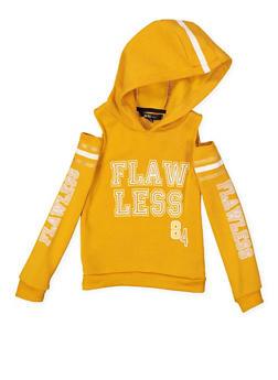 Girls 4-6x Graphic Cold Shoulder Sweatshirt - 3605038342556