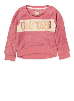 Girls 4-6x Color Block Unicorn Sweatshirt - 3605061950030