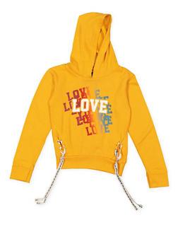 Girls 4-6x Love Graphic Sweatshirt - 3605063400016