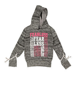 Girls 4-6x Fearless Graphic Hooded Sweatshirt - 3605063400017