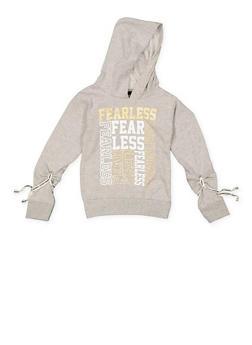 Girls 4-6x Fearless Graphic Hooded Sweatshirt - 3605063400017