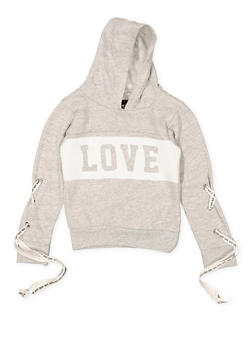 Girls 4-16 Love Graphic Sweatshirt - 3605063400018